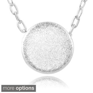 Journee Collection Sterling Silver Solid Circle Pendant