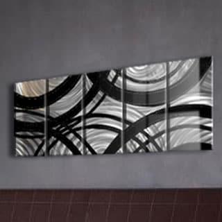 'Silver Gears' Large Metal Wall Art