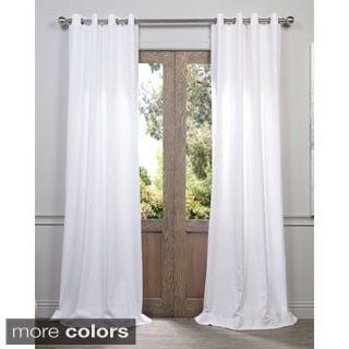 Heavy Faux Linen Grommet Curtain Panel