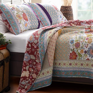 Geneva Patchwork 3-piece Quilt Set