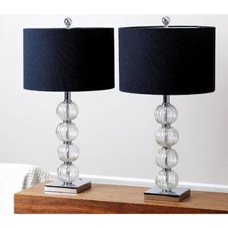 ABBYSON LIVING Castlebridge Glass Table Lamp (Set of 2)
