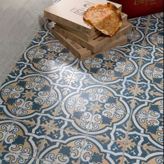 SomerTile 17.75x17.75-inch Royals Canarsie Ceramic Floor and Wall Tile (Case of 5)