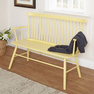 Simple Living Yellow Shelby Bench