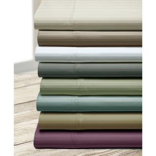Executive Stripe 800 Thread Count Cotton Blend Sheet Set with Bonus Pillowcases