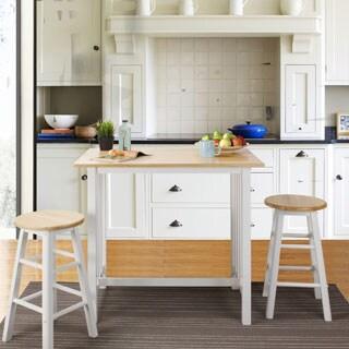 Hardwood Top 3-piece Pub Style Breakfast Set