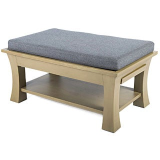 Couef Label Jared Ottoman/ Cocktail Table with Pull-out Shelves