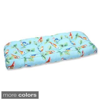 Pillow Perfect Outdoor Curious Bird Wicker Loveseat Cushion