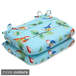 Pillow Perfect Outdoor Curious Bird Rounded Corners Seat Cushion (Set of 2)
