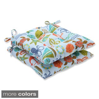 Pillow Perfect Outdoor Seapoint Wrought Iron Seat Cushion (Set of 2)