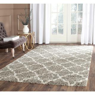 Safavieh Hudson Shag Grey/ Ivory Rug (3' x 5')