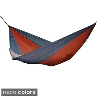 Parachute Nylon Hammock - Single (Navy/Olive)