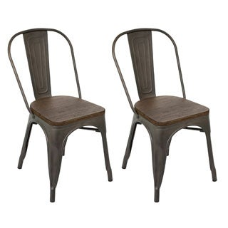 Industrial Oregon Antiqued Dining Chair - Set of 2