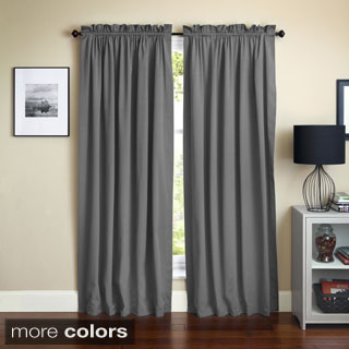 Blazing Needles 84-inch Twill Curtain Panel Pair