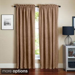 Blazing Needles 108-inch Microsuede Blackout Curtain Panel Pair