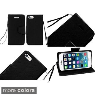 Insten Stand Folio Flip Leather Wallet Flap Pouch Phone Case Cover For Apple iPhone 6 Plus