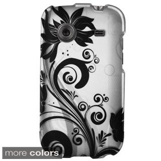 Insten Vines Rubberized Hard Plastic Slim Snap-on Phone Case Cover For ZTE Whirl Z660G