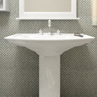 SomerTile 12.375 x 12.375-inch Jewel Grey Eye Porcelain Mosaic Floor and Wall Tile (Case of 10)