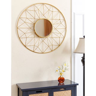 ABBYSON LIVING Marie Round Gold Wall Mirror
