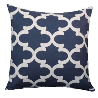 Blue Moroccan Lattice Designed Pillow Cover