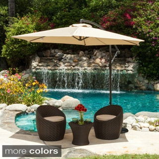 Christopher Knight Home Outdoor Pomona Banana Canopy Umbrella with Base