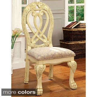 Furniture of America Beaufort Formal Fabric Side Chair (Set of 2)