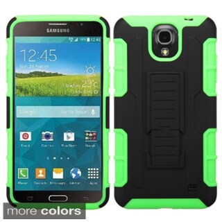 Insten Car Armor Hard PC/ Silicone Dual Layer Hybrid Phone Case Cover with Stand For Samsung Galaxy Mega 2