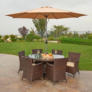 the-Hom Caso 8-piece Outdoor Wicker Dining Set