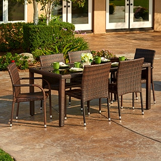 The Hom Toria 7-piece Outdoor Wicker Dining Set