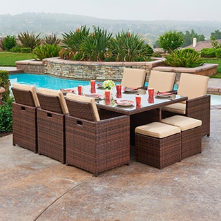 the-Hom Yuca 11-piece Outdoor Wicker Dining Set