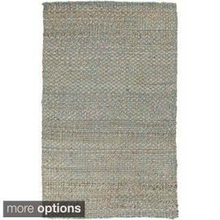 Hand-Woven Alaya Stripe Pattern Jute Rug (10' x 14')