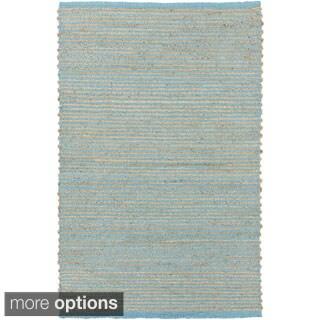 Hand-Woven Aisha Stripe Pattern Jute Rug (10' x 14')