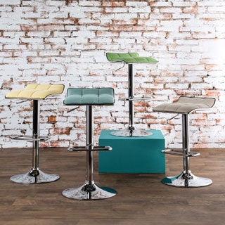 Furniture of America Celia Modern Adjustable Swivel Bar Stool