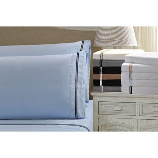 Wrinkle Resistant Embroidered 2-Line 6-piece Sheet Set in Gift Box