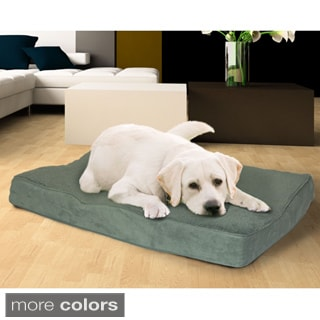 Furhaven Terry and Suede Deluxe Orthopedic Pet Mattress