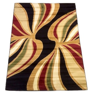 LYKE Home Prism Black/ Multi Area Rug (8' x 10')