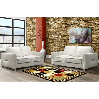 LYKE Home Prism Black/ Brown Area Rug (8' x 10')