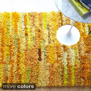 Hand-woven Payton Ruffled Shag Rug (3'0 x 5'0)