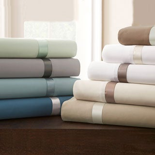 400 Thread Count 100-percent Cotton 4-piece Sheet Set with Satin Band