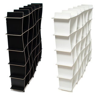 25-cubby Wave Modern Bookcase