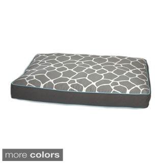 EZ Living Home Giraffe Print Water Repellent Reversible Memory Foam Topper Cotton Twill Pillow Bed