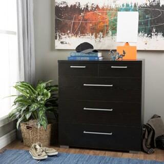 Aria 5-drawer Wooden Oak Chest