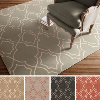 Meticulously Woven Tom Moroccan Trellis Polypropylene Rug (7'3 Square)