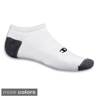 Champion Double Dry Performance Men's No-Show Socks Extended Sizes (Pack of 6)