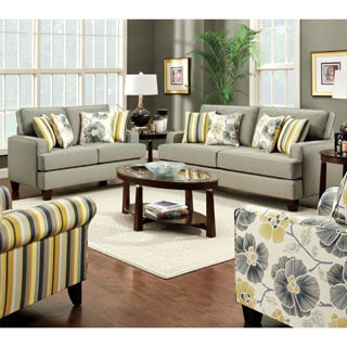 Furniture of America Gianne 2-piece Contemporary Taupe Sofa Set