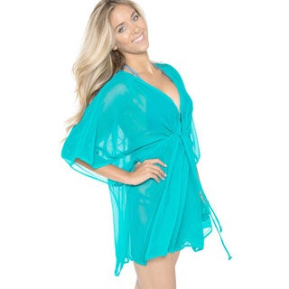 La Leela Chiffon Colorful Swimwear Beach Cover-up Caftan