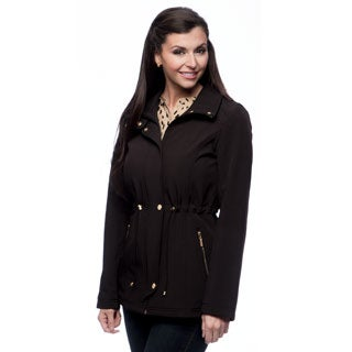 Ellen Tracy Women's Anorak Softshell Black Jacket