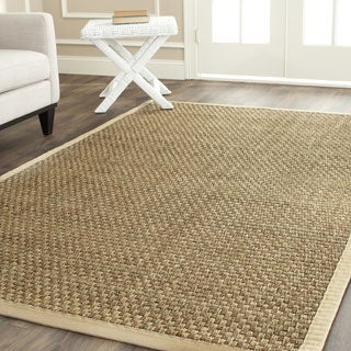 Safavieh Casual Natural Fiber Natural and Beige Border Seagrass Rug (10' Square)