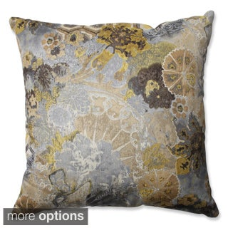 Pillow Perfect Windflower Silver Cloud Throw Pillow
