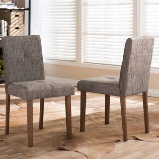 Baxton Studio Elsa Gravel Contemporary Dining Chair (Set of 2)