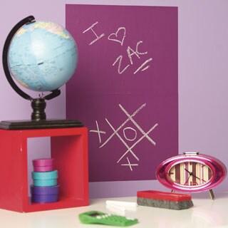 Wallies Purple 2-Sheet Chalkboard